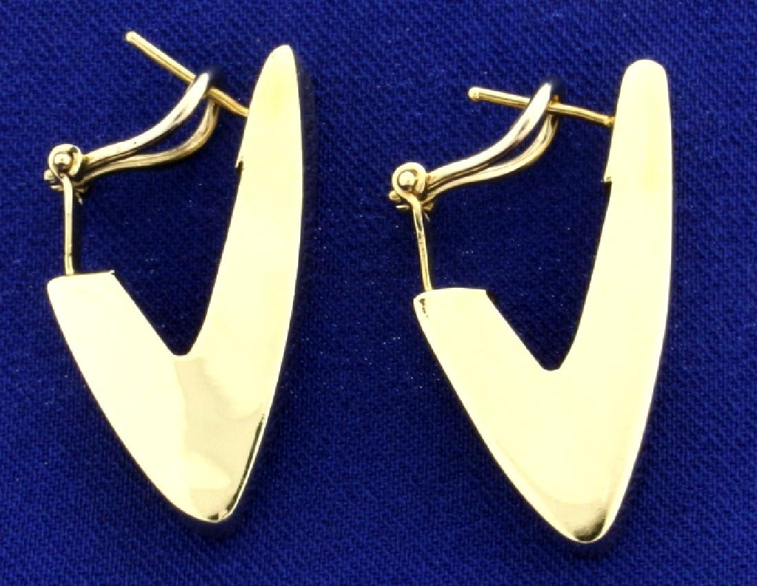 Italian Made Triangular Designer Earrings