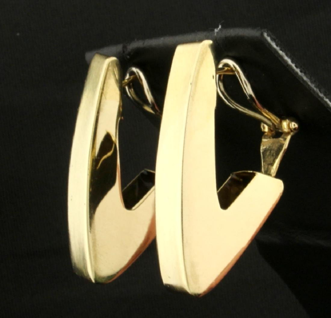 Italian Made Triangular Designer Earrings - 2