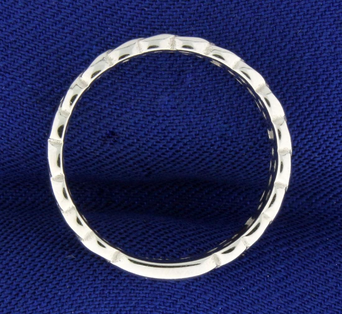 Braided White Gold Band Ring in 14K White Gold - 2