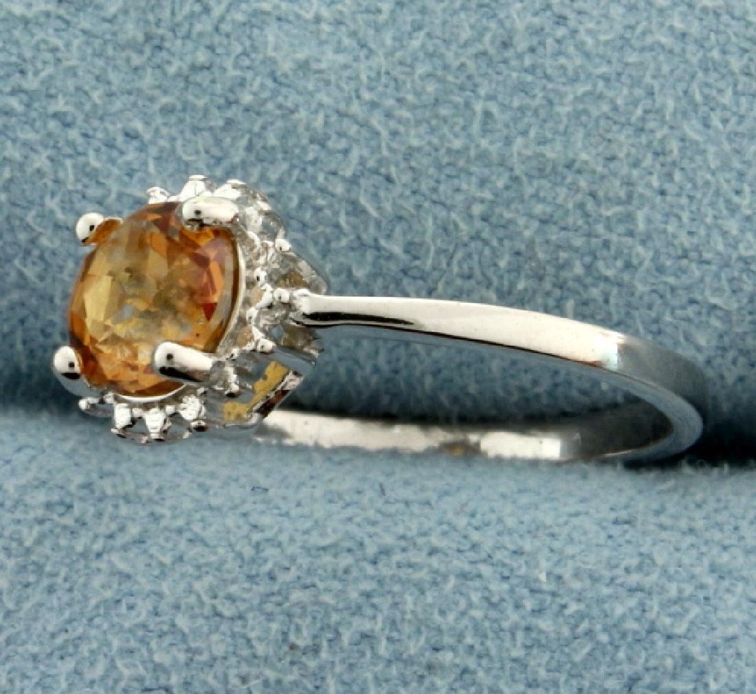 Citrine Sunburst Ring in Sterling Silver - 2