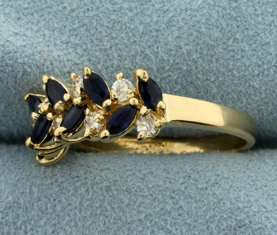 Sapphire and Diamond Ring in 14K Yellow Gold - 2