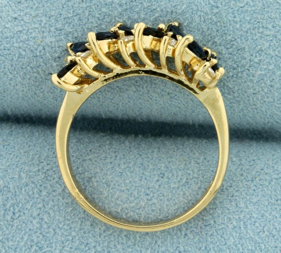 Sapphire and Diamond Ring in 14K Yellow Gold - 3