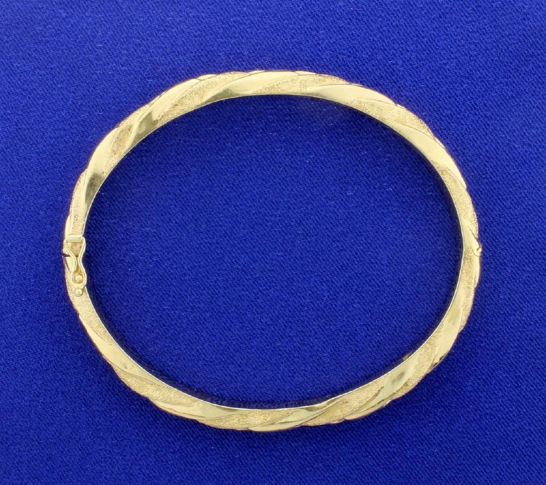 14K Hinged Bangle Bracelet - 2