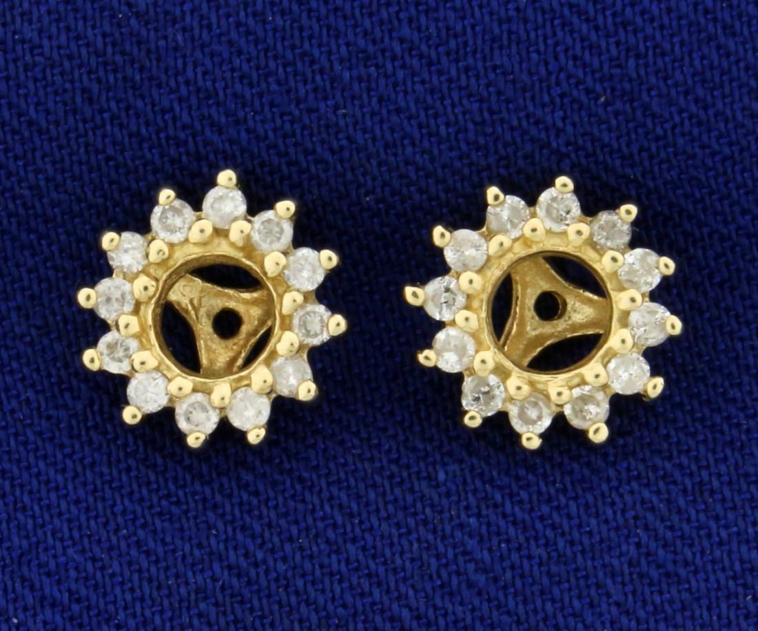 1/4ct TW Diamond Stud Enhancers in 10K Yellow Gold