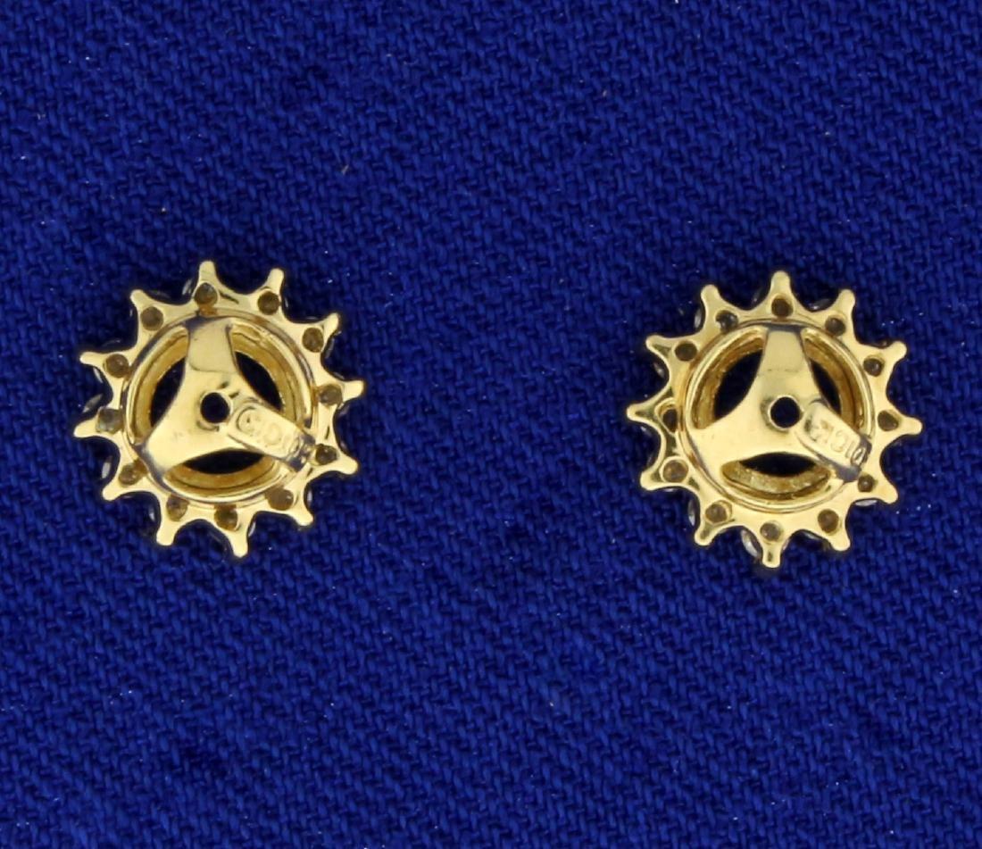1/4ct TW Diamond Stud Enhancers in 10K Yellow Gold - 2