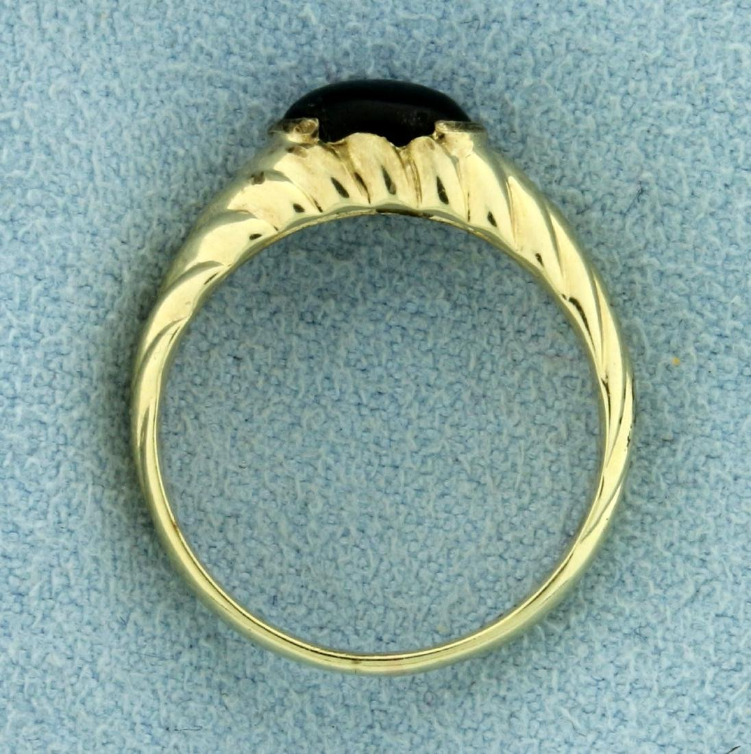 Cabochon Onyx Ring in 14K Yellow Gold - 3