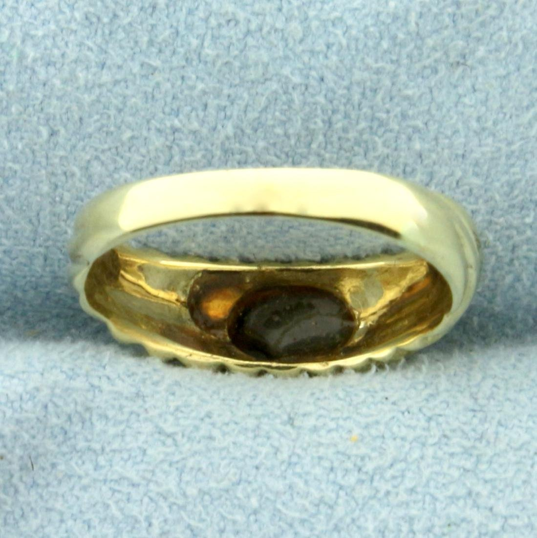 Cabochon Onyx Ring in 14K Yellow Gold - 4