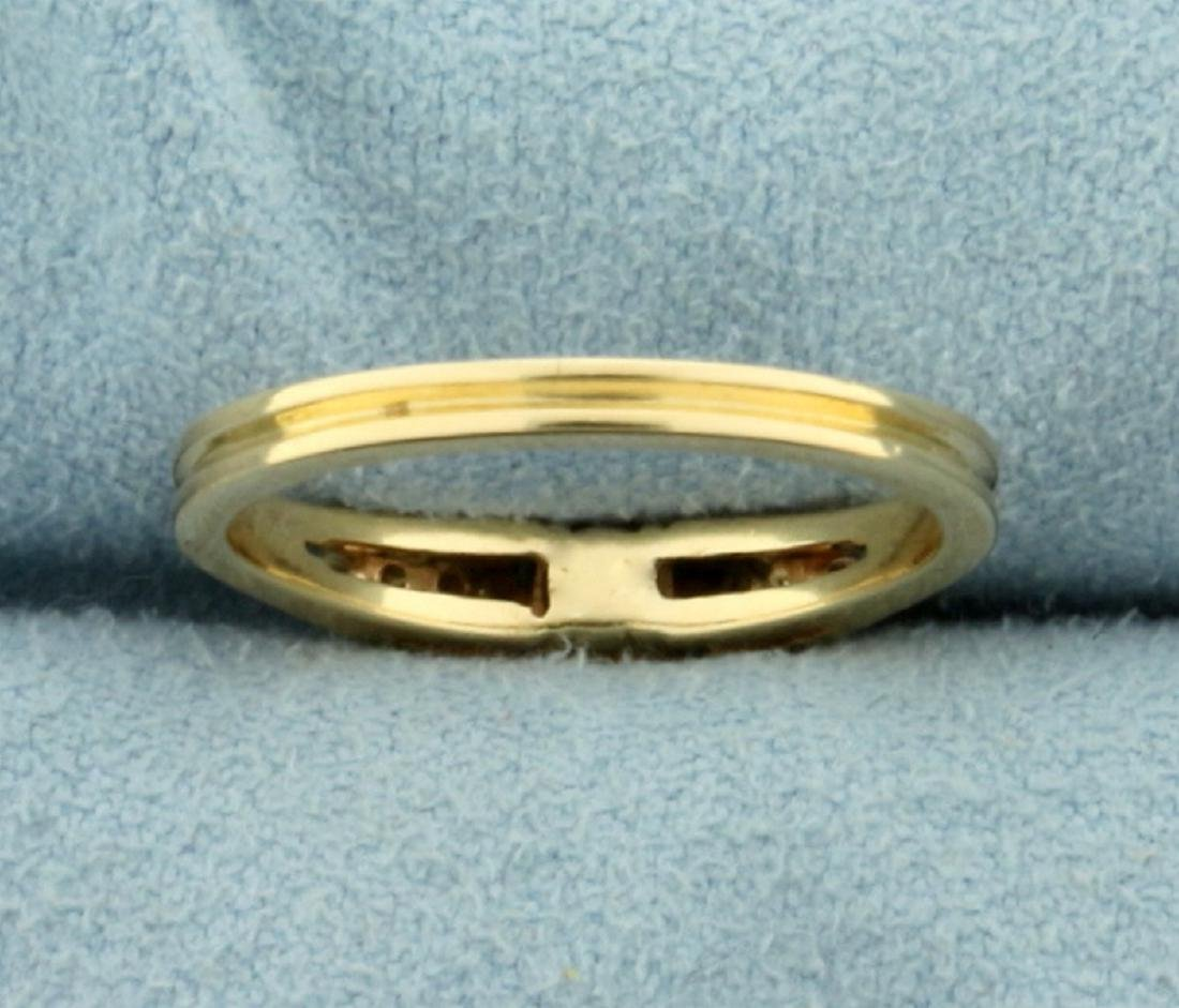 Natural Emerald and Diamond Ring in 14K Yellow Gold - 4