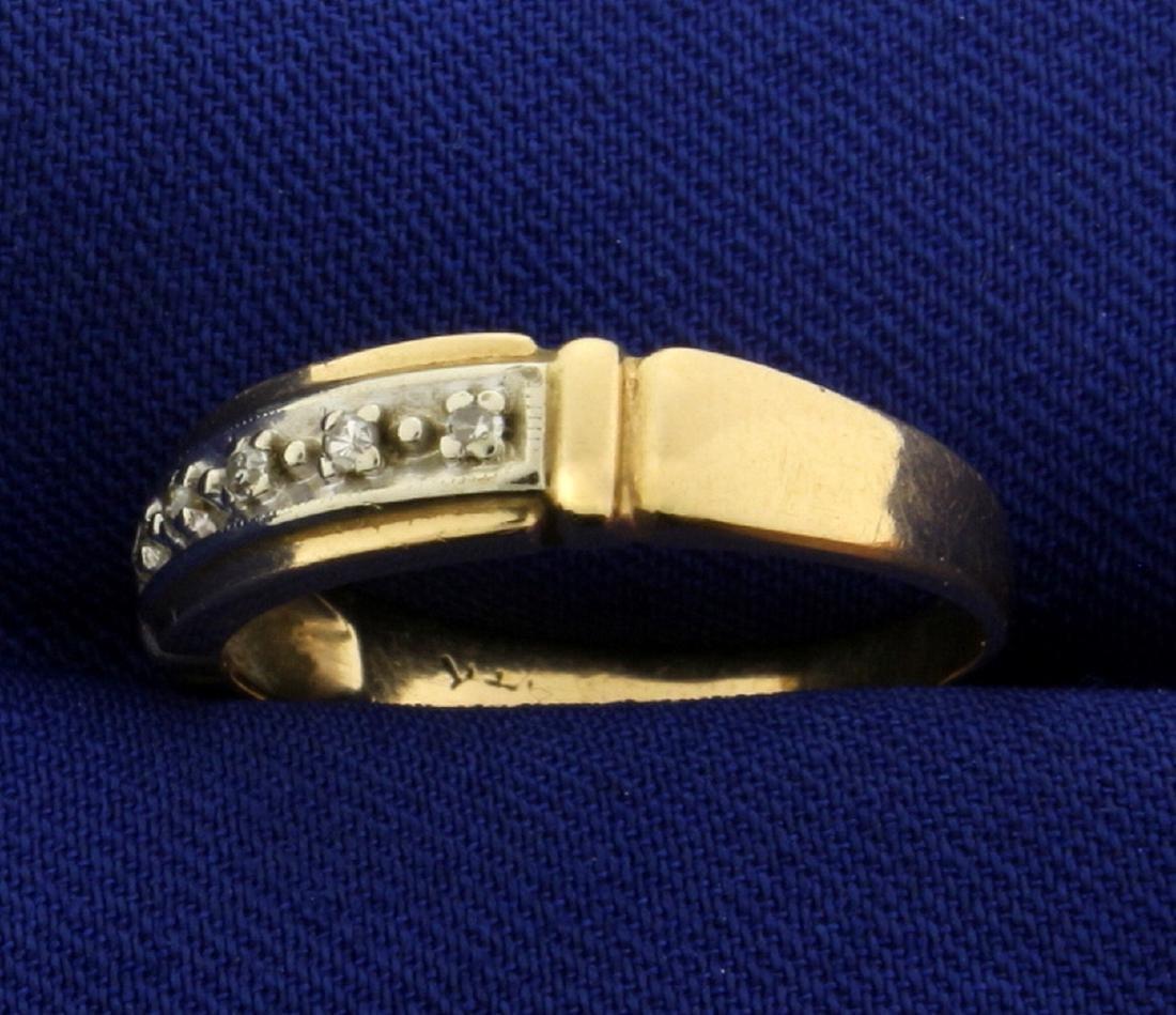 Vintage Diamond Band Ring - 2