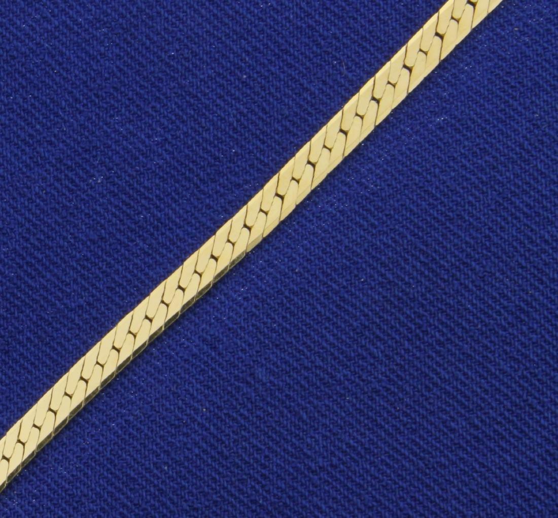 20 Inch Herringbone Neck Chain in 14K Yellow Gold - 2