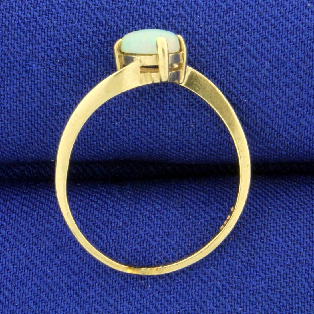 Solitaire Opal Ring in 14K Yellow Gold - 3