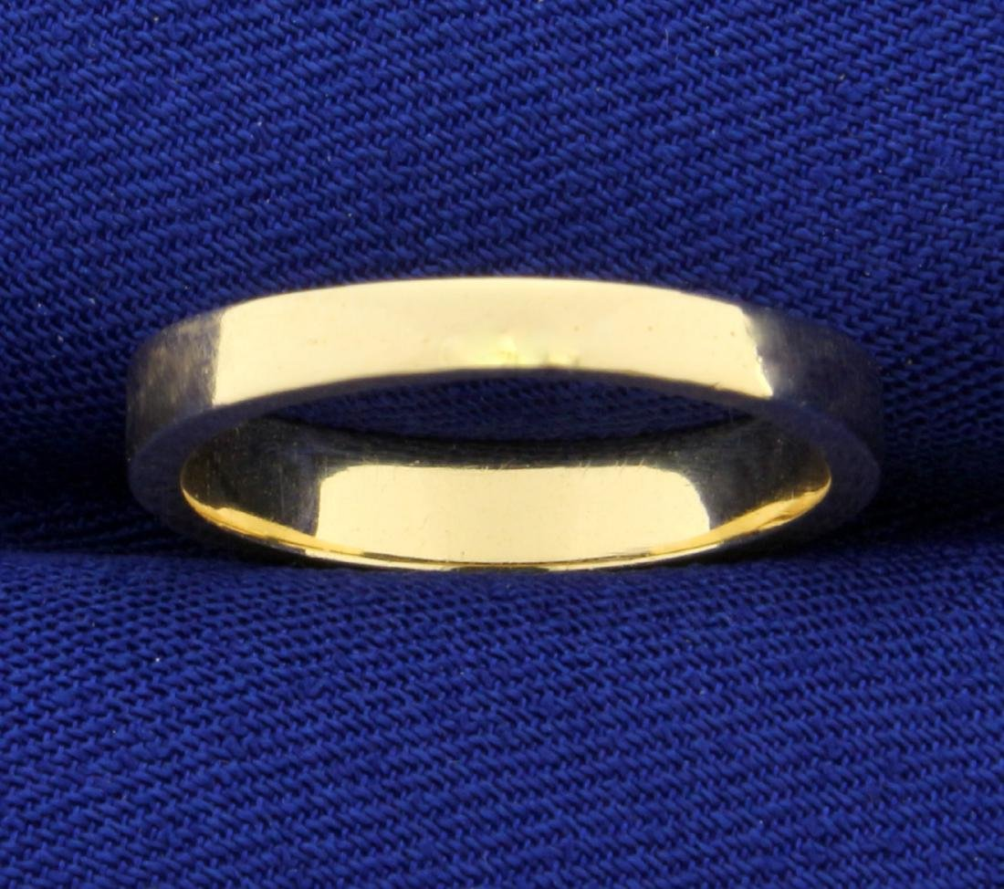 Unique Design Gold Wedding Band Ring in 14K Yellow and - 4