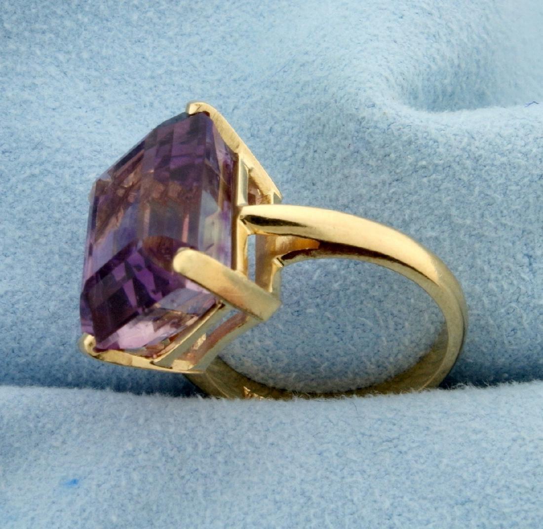 12 ct Amethyst Ring in 14k Gold - 2