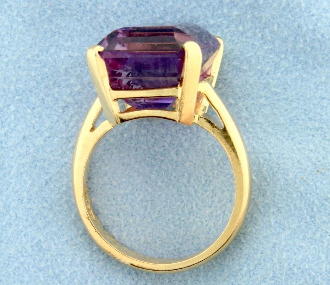 12 ct Amethyst Ring in 14k Gold - 3