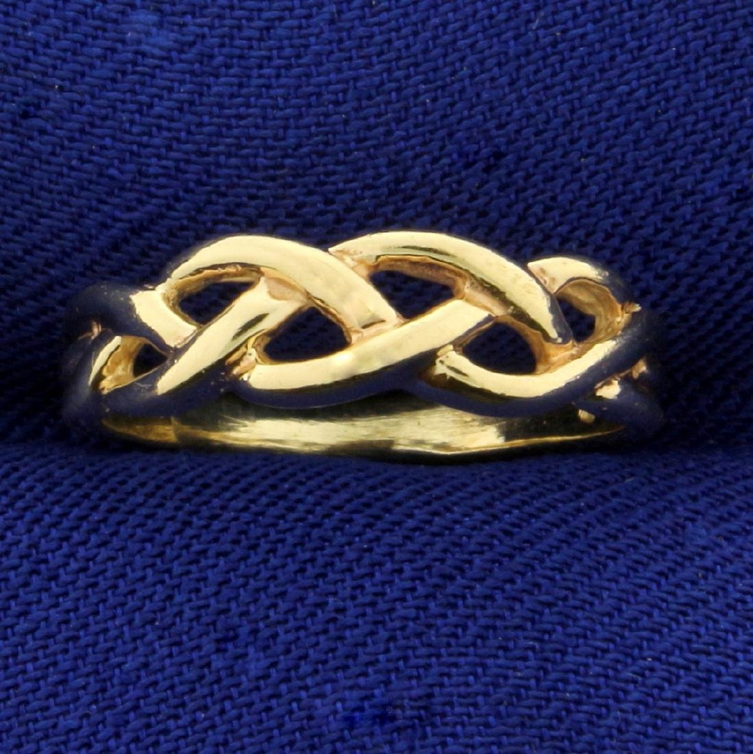 Braided Design Band Ring in 14K Yellow Gold