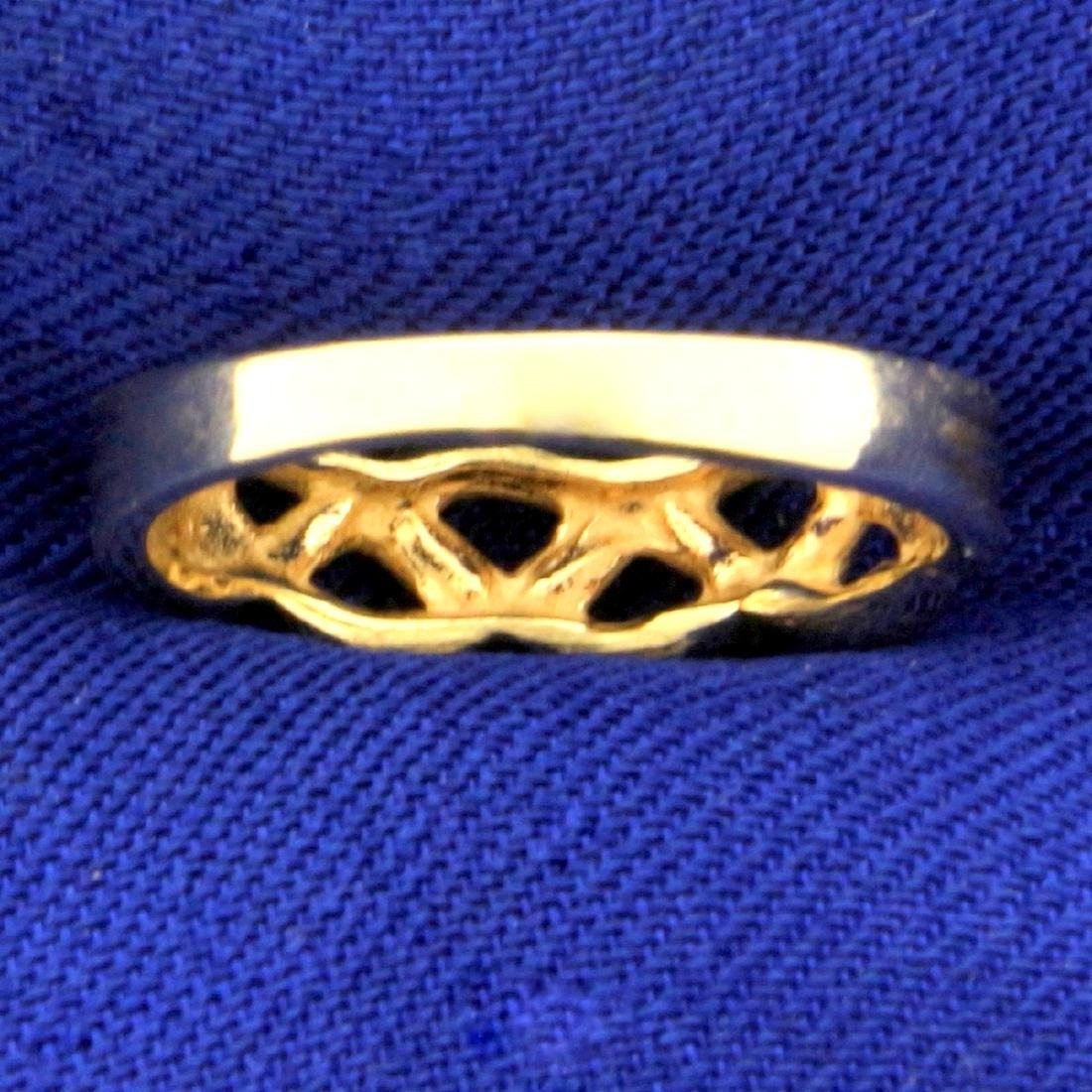 Braided Design Band Ring in 14K Yellow Gold - 4