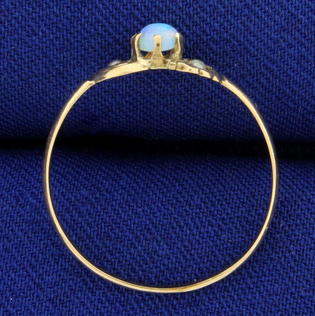 Vintage Opal and Seed Pearl Ring in 10K Rose Gold - 3