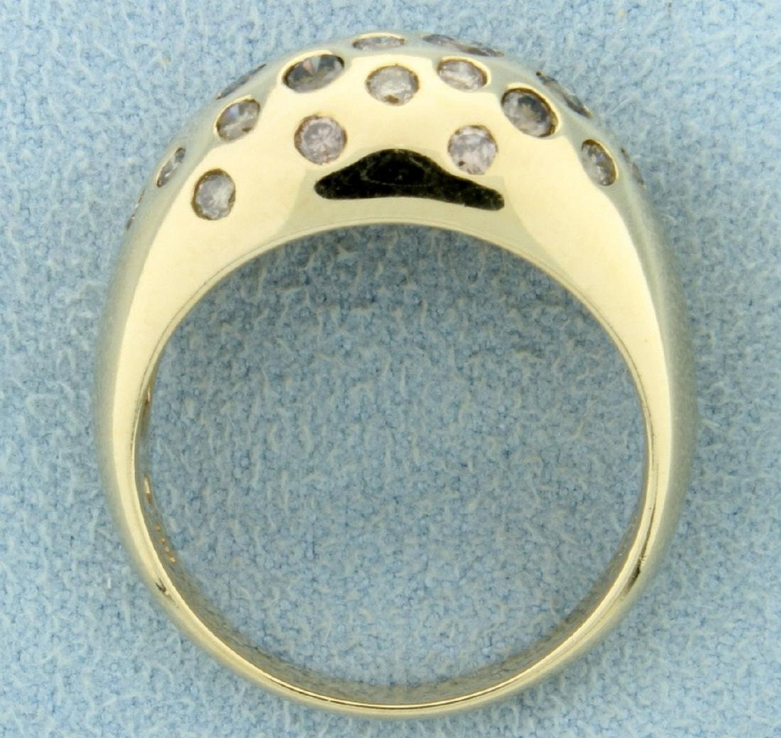1.25ct TW Chocolate, Champagne, and White Diamond Ring - 3