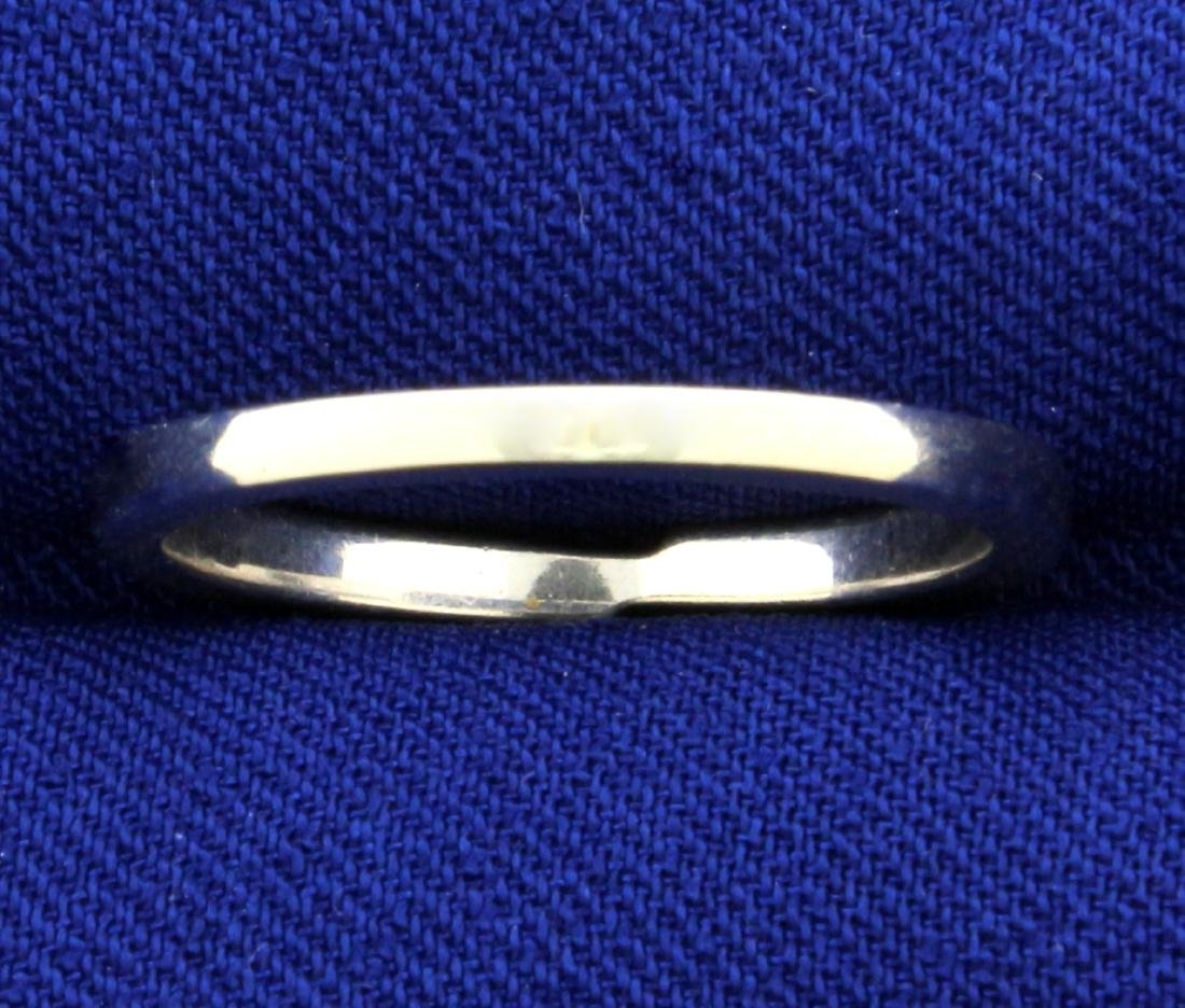 Modern Style Band Ring in 14K White Gold - 4