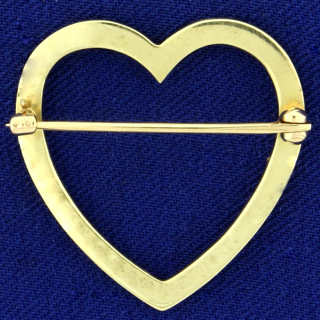 Victorian Pearl Heart Pin with Seed Pearls in 14K - 2