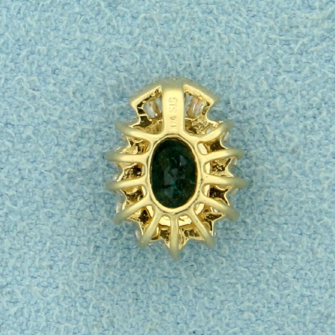 Natural Alexandrite and Diamond Pendant in 14K Yellow - 2