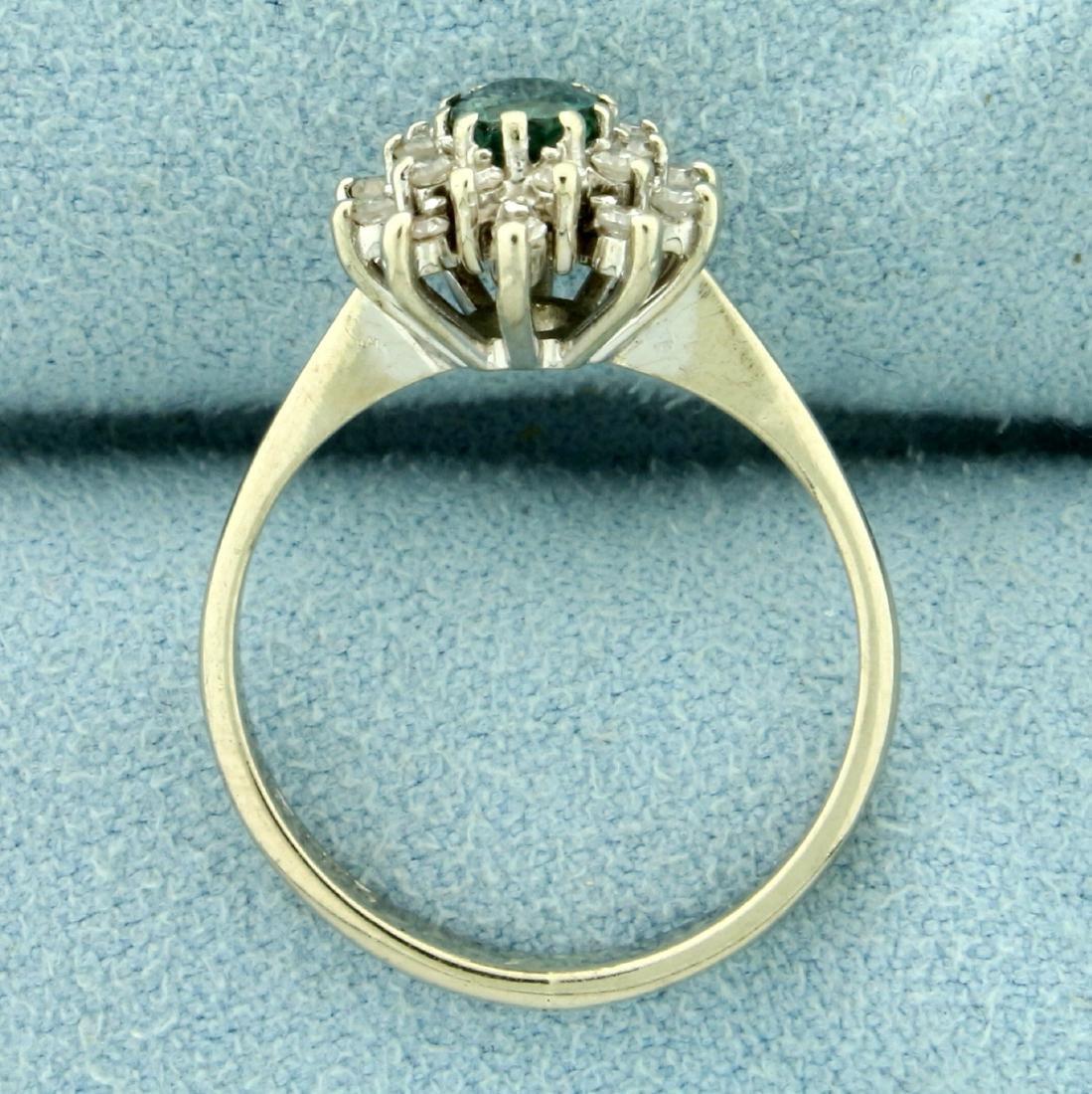 Natural Alexandrite and Diamond Starburst Ring in 14K - 3