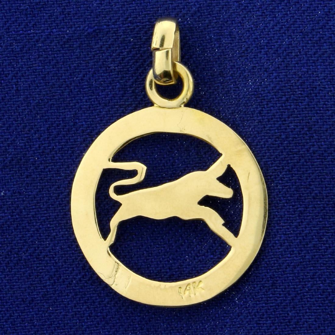 Taurus Bull Pendant in 14K Yellow Gold - 2