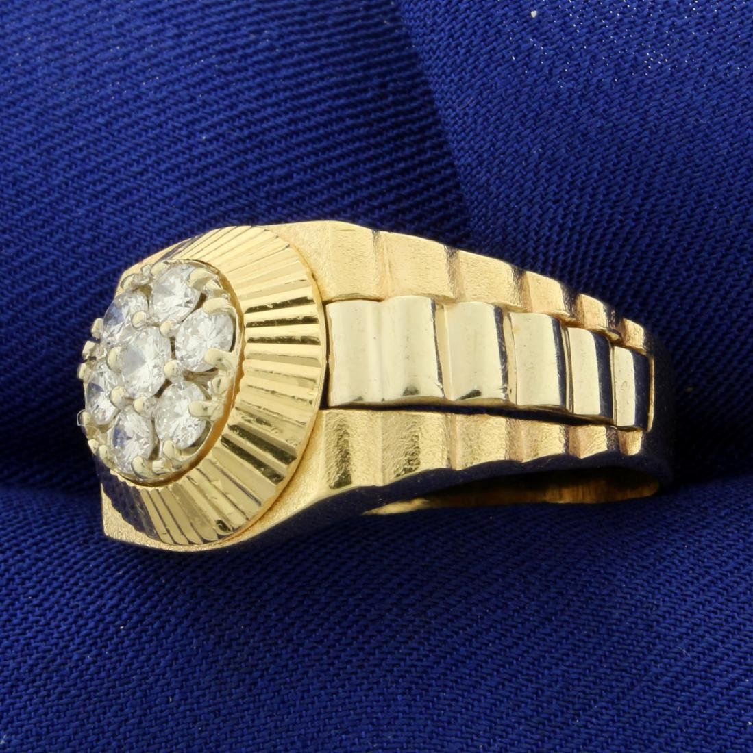 1ct TW Men's Diamond Ring in 14K Yellow Gold - 2