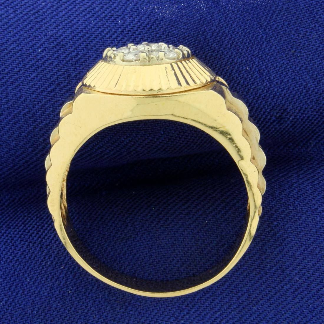1ct TW Men's Diamond Ring in 14K Yellow Gold - 3