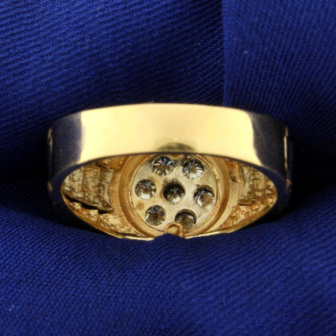 1ct TW Men's Diamond Ring in 14K Yellow Gold - 4