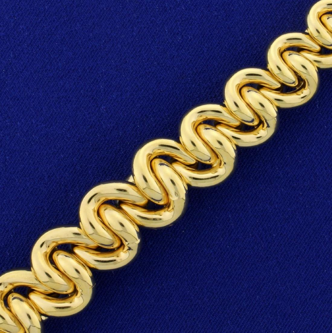 Italian Made Large Tapering Twisted Loop Link Neck - 2