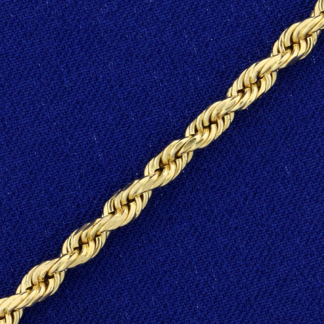 Rope Anklet in 14K Yellow Gold - 2