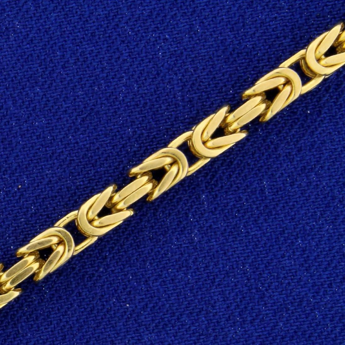 8 Inch Byzentine Link Bracelet in 14K Yellow Gold - 2