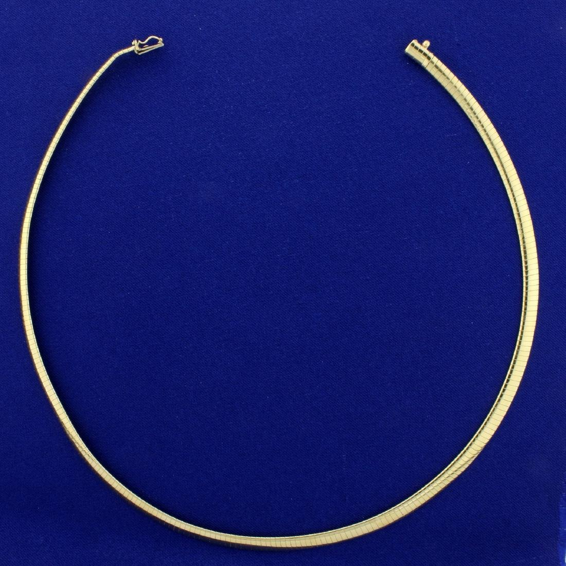 17 Inch Omega Necklace in 14K Yellow Gold