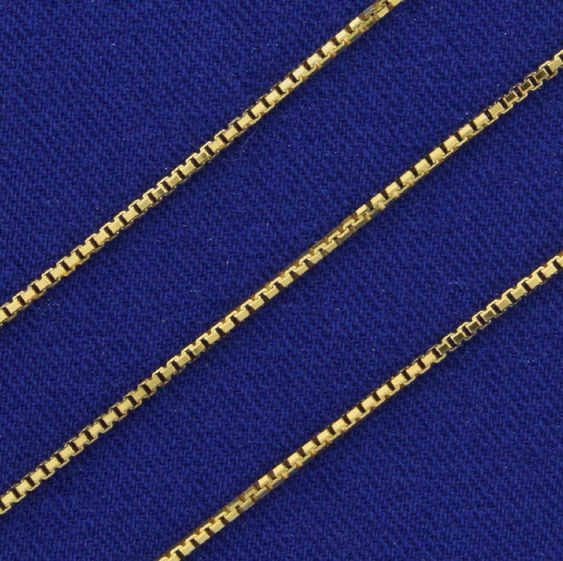 18 1/2 Inch Italian Made Box Neck Chain in 14K Yellow - 2