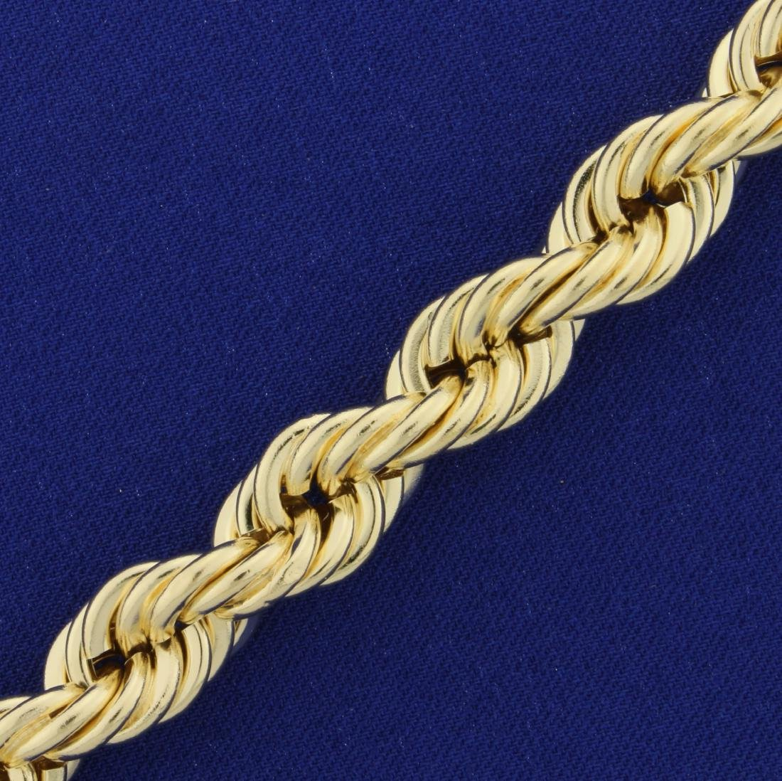 Very Thick Rope Neck Chain in 14K Yellow Gold - 2