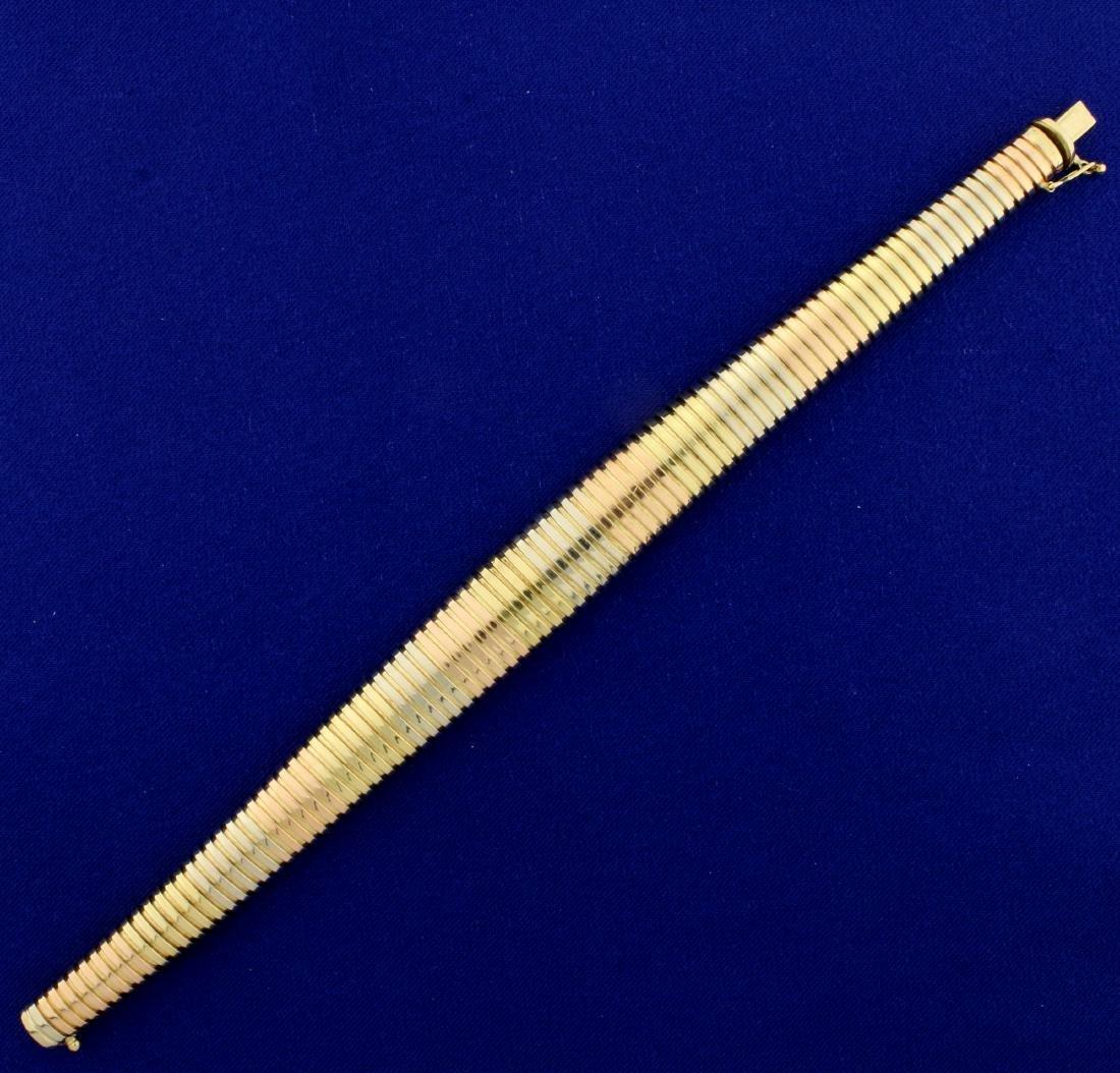Designer Italian Made Graduated Snake Link Bracelet in