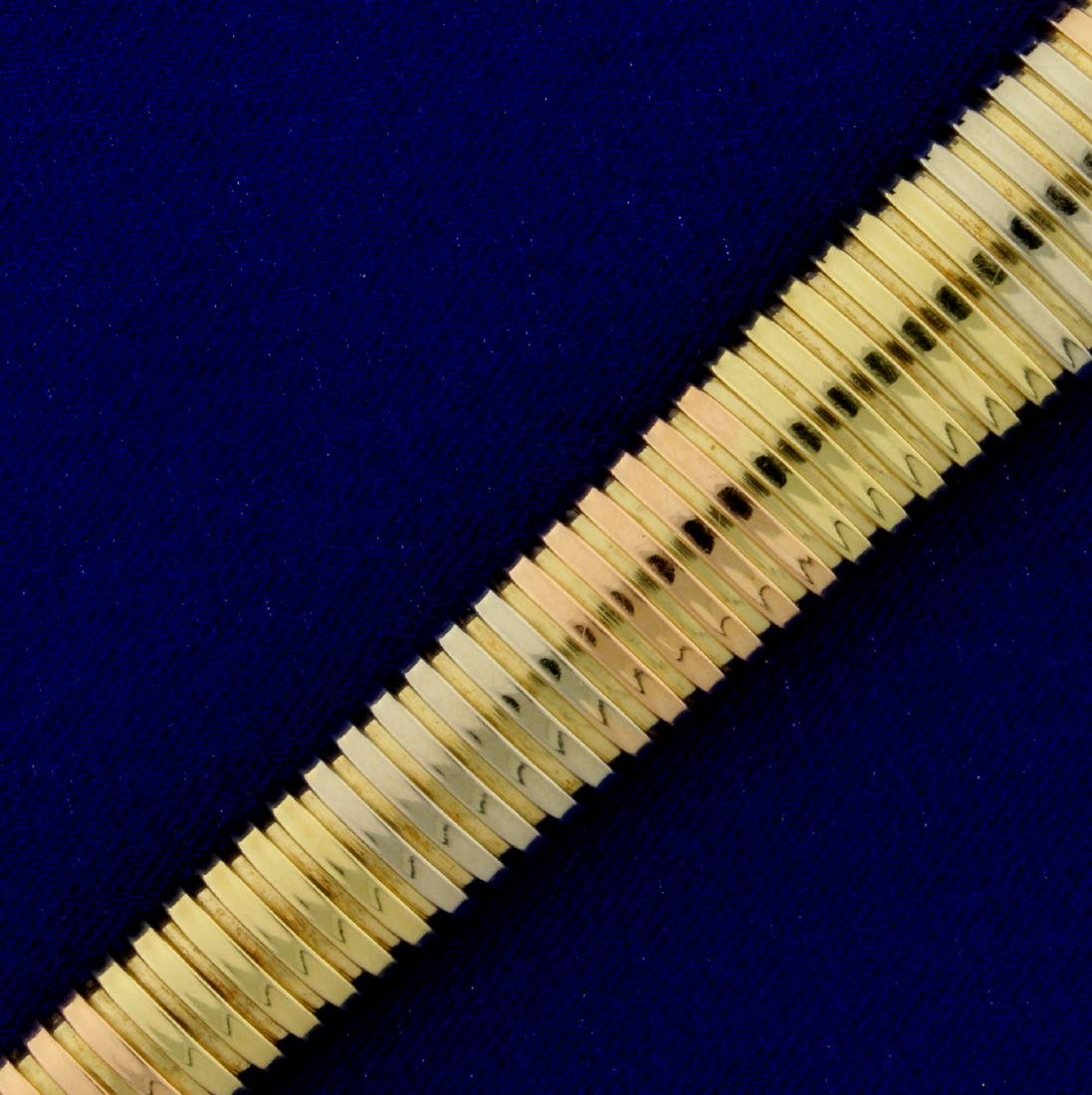 Designer Italian Made Graduated Snake Link Bracelet in - 2