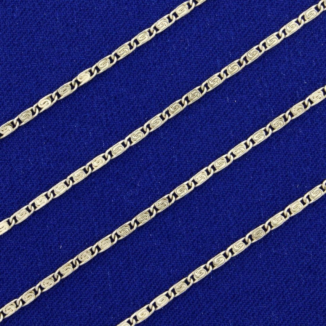 25 1/2 Inch Link Designer Link Neck Chain in Sterling - 2