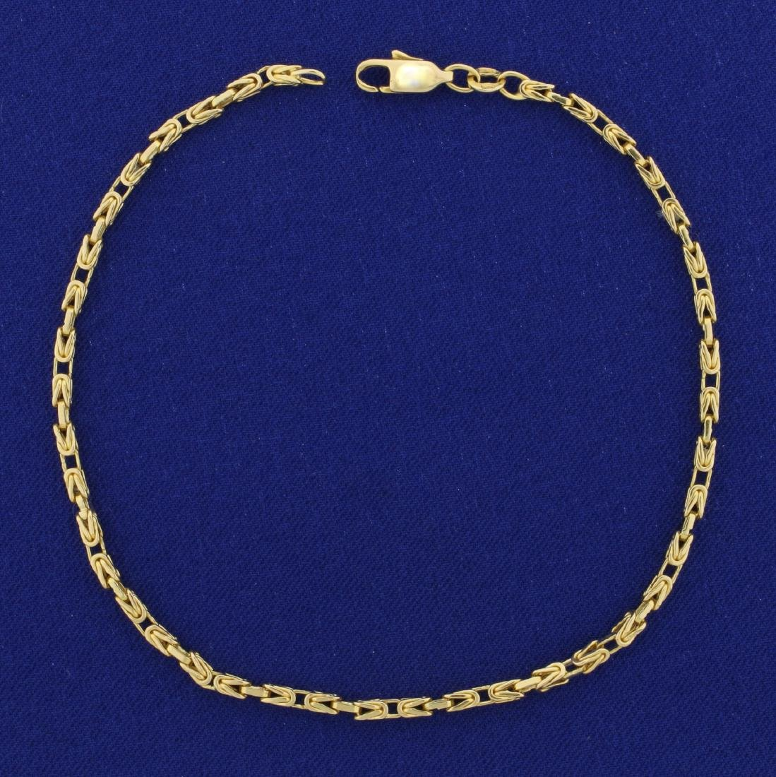 9 3/4 Inch Italian Made Byzantine Link Neck Chain in