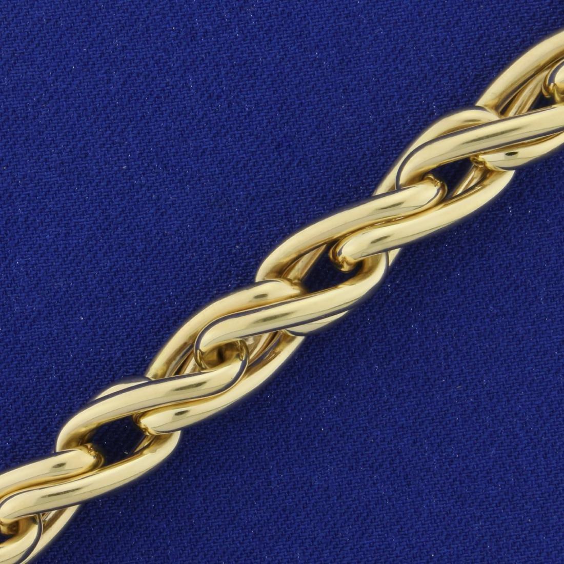 Heavy Italian Made Designer Twisting Link Bracelet in - 2
