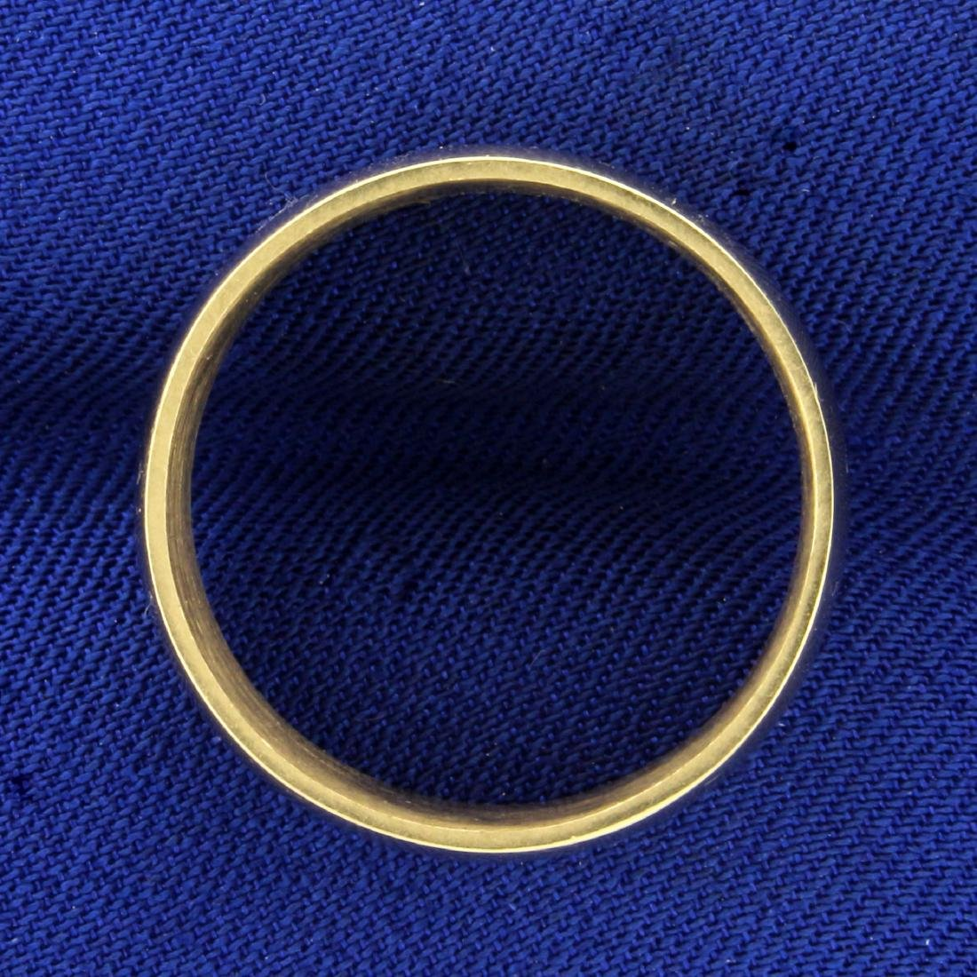 Wide 8.4mm Wedding Band Ring in 14K Yellow Gold - 2
