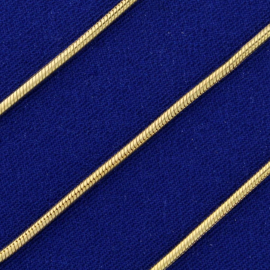 Italian Made 20 Inch Snake Link Necklace in 14K Yellow - 2