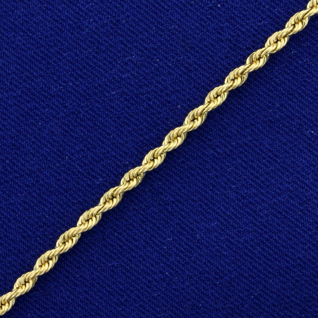 7 Inch Rope Style Bracelet in 14K Yellow Gold - 2