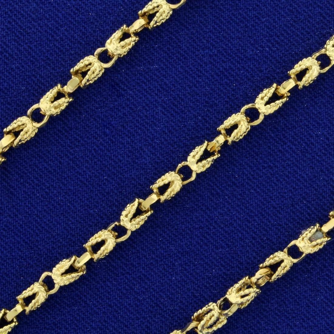 20 Inch Designer Link Neck Chain in 14K Yellow Gold - 2