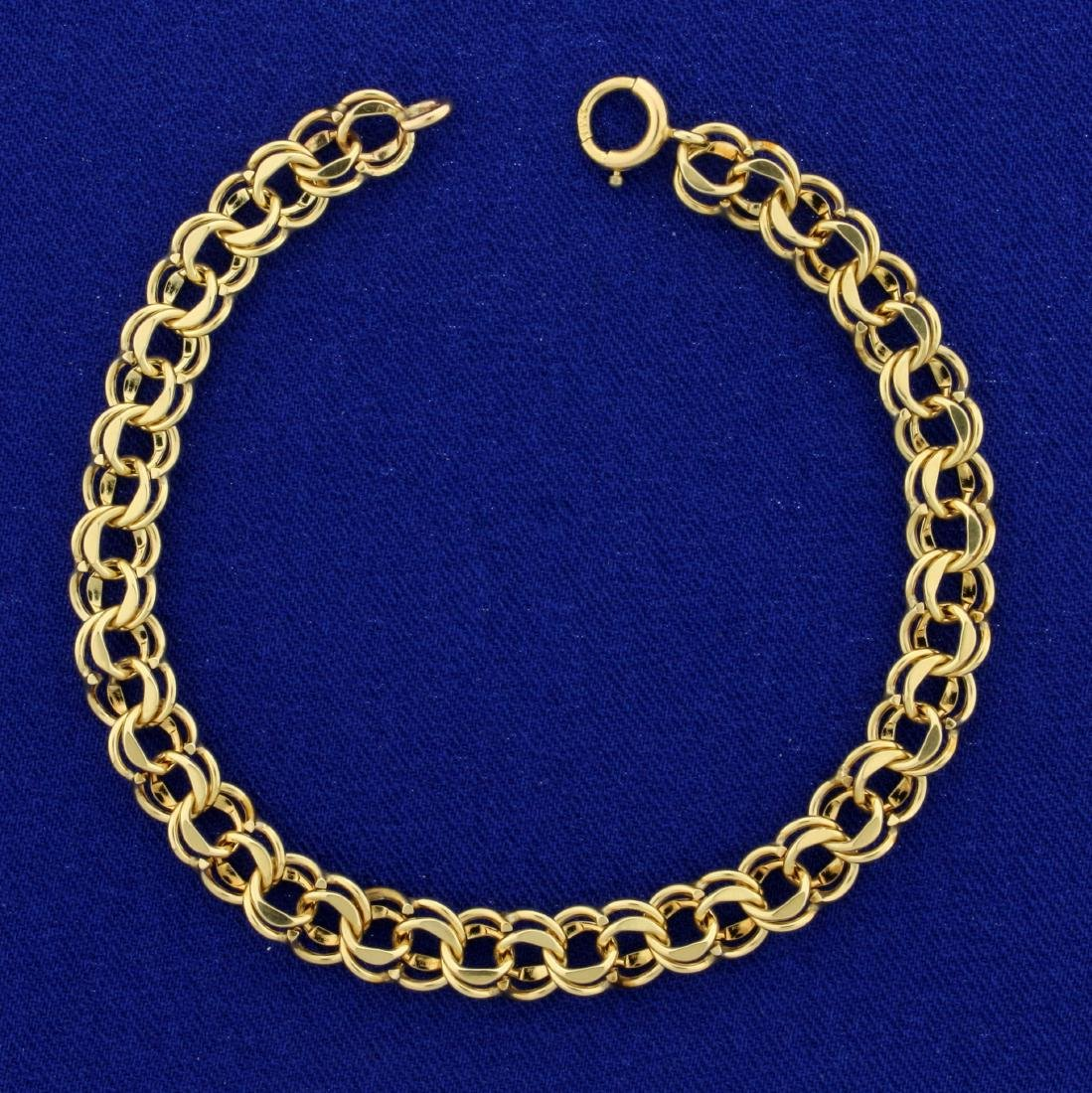 7 1/4 Inch Charm Bracelet in 14K Yellow Gold