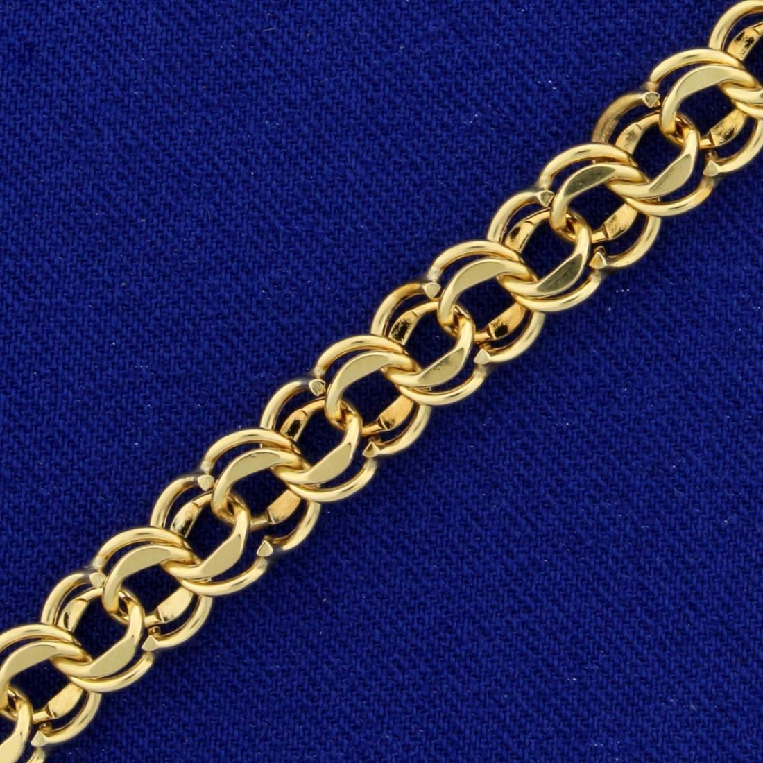 7 1/4 Inch Charm Bracelet in 14K Yellow Gold - 2