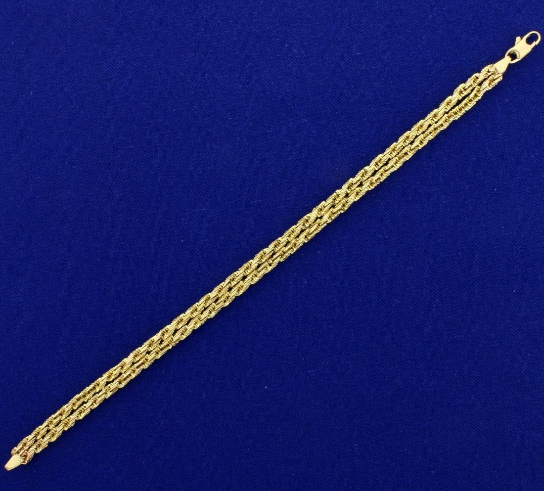 Designer Double Strand Geometric Rope Style Bracelet in