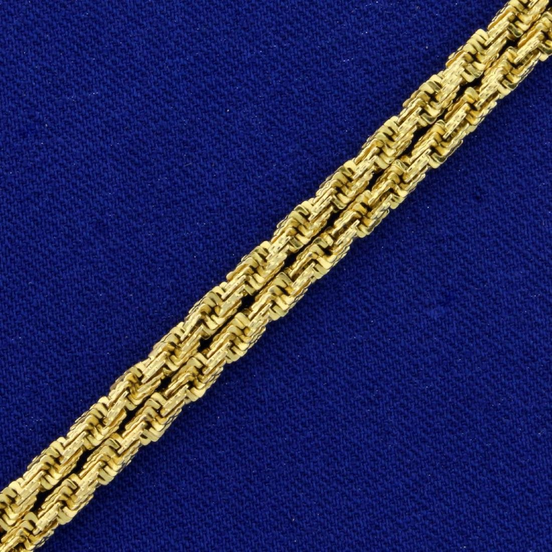 Designer Double Strand Geometric Rope Style Bracelet in - 2