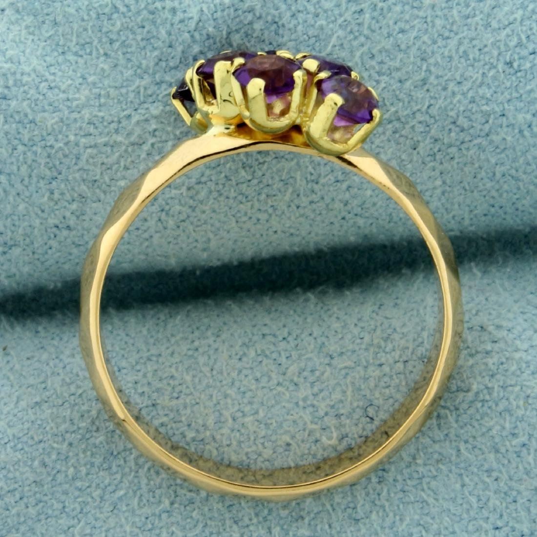 Six Stone Amethyst Ring in 18K Yellow Gold - 3